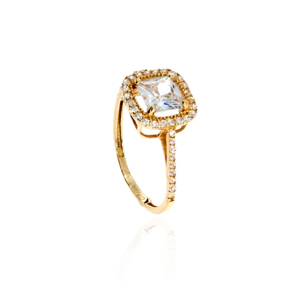 Pierścionek Zaręczynowy Złoto 585 Swarovski Filmik Leo Diamonds