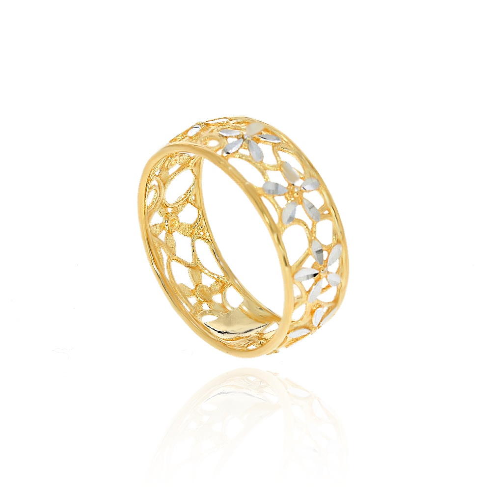 3b4ef5418ec07e Szeroki 7 mm pierścionek złoty pr. 585 | Leo Diamonds - biżuteria ...