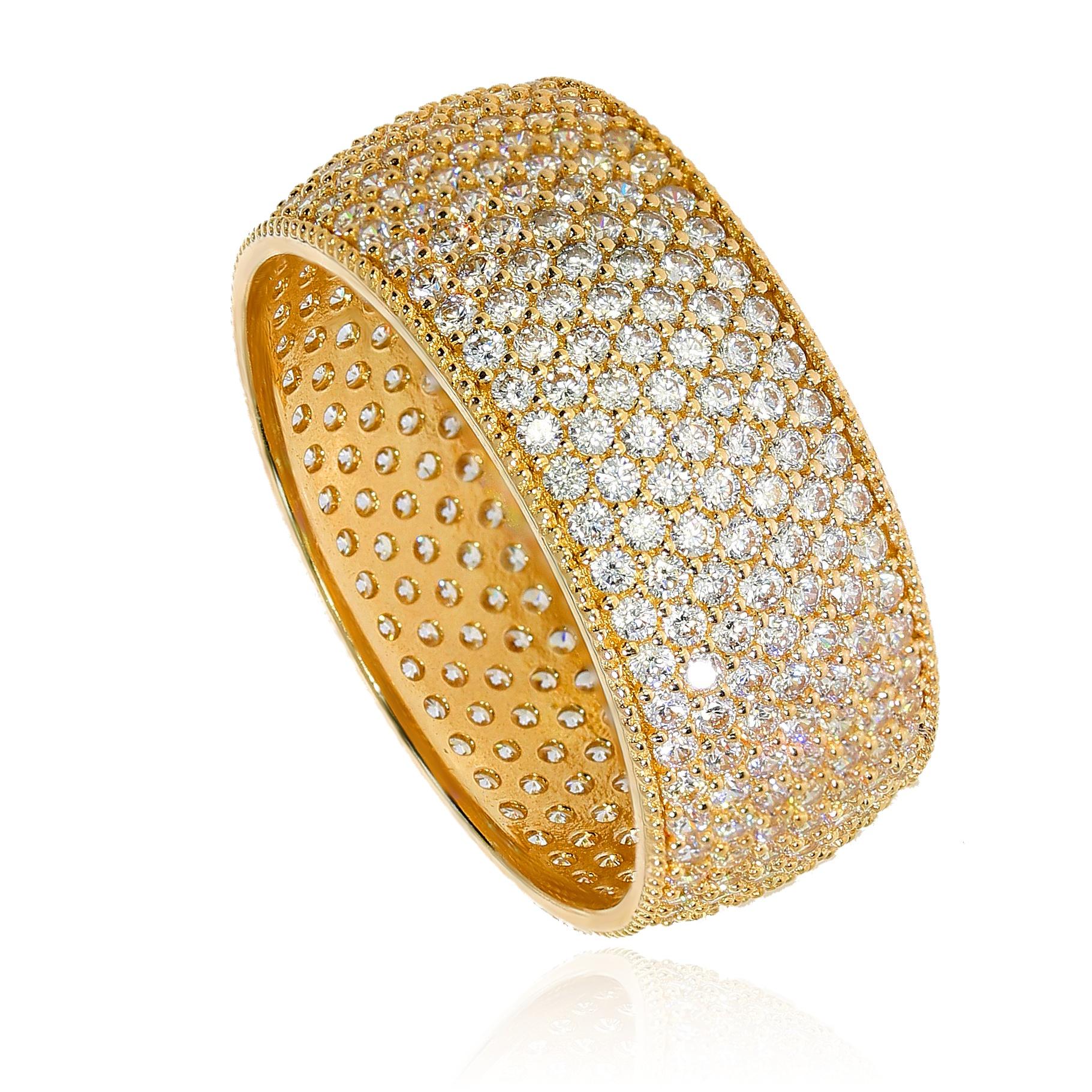 cf28a8a577f242 Niespotykany szeroki pierścionek obrączkowy | Leo Diamonds ...