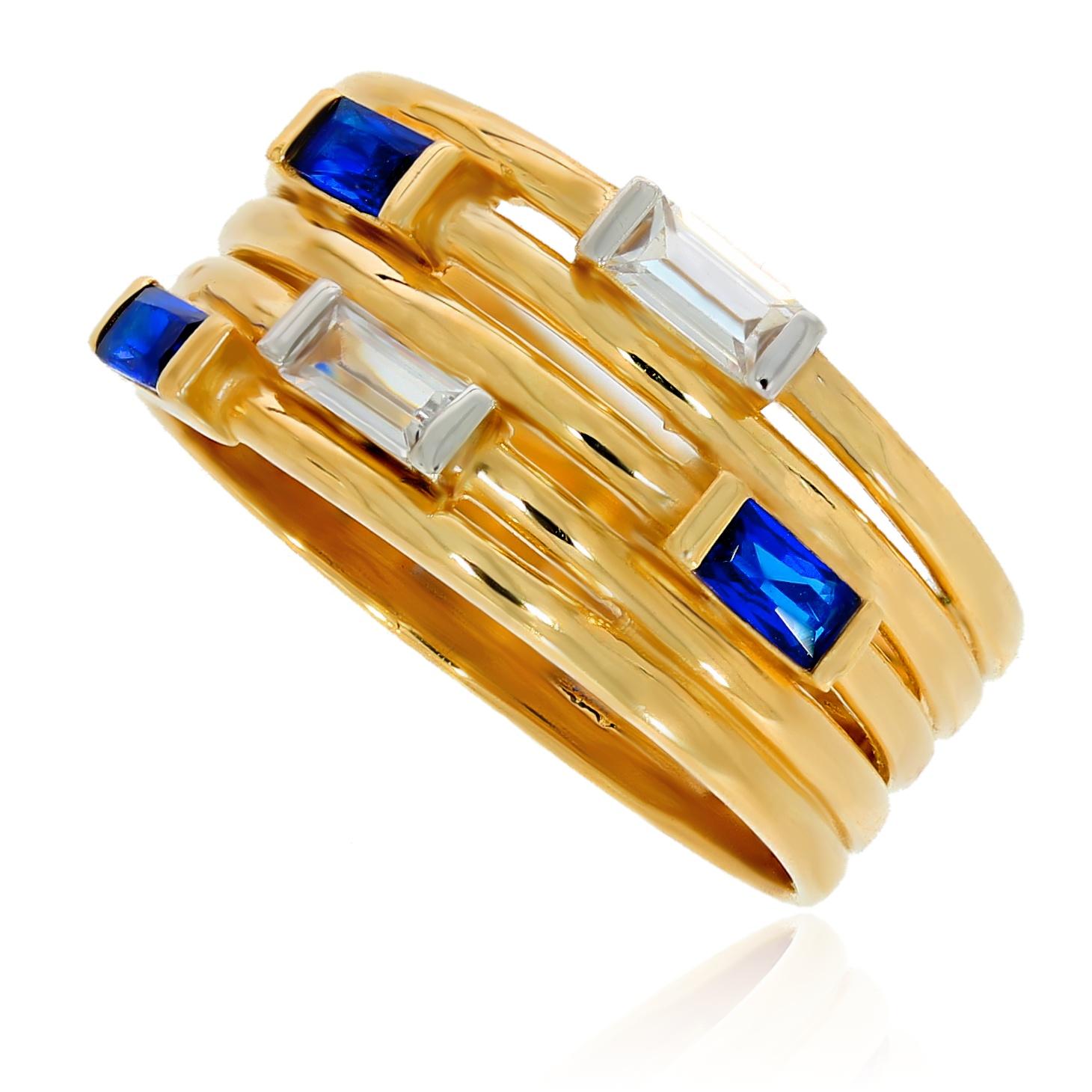 64376b3542abc5 Szeroki pierścionek szafir cyrkonia | Leo Diamonds - biżuteria ...